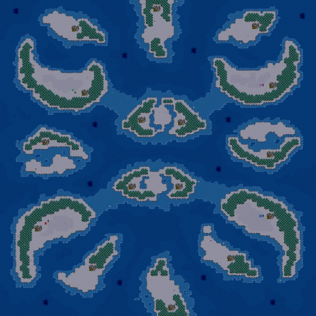Warcraft 2 map image Horseshoe Island BNE picture