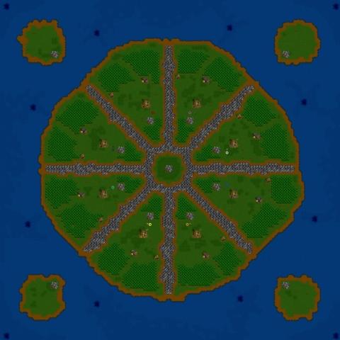 Warcraft 2 map Turtle Rock